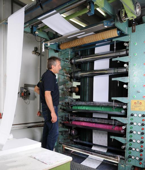 Rouleauxdruck-Maschine